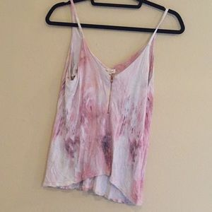 UO Flowy Pink Shirt with Zipper